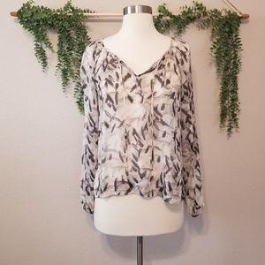 Club Monaco Silk Feathera Blouse XS